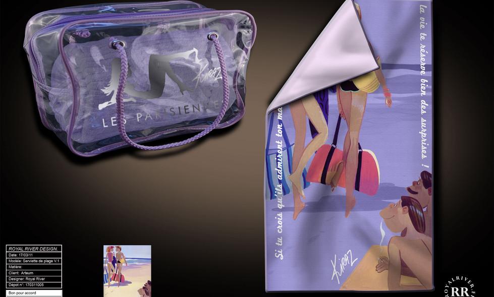 Kiraz sac de plage serviette Royal River