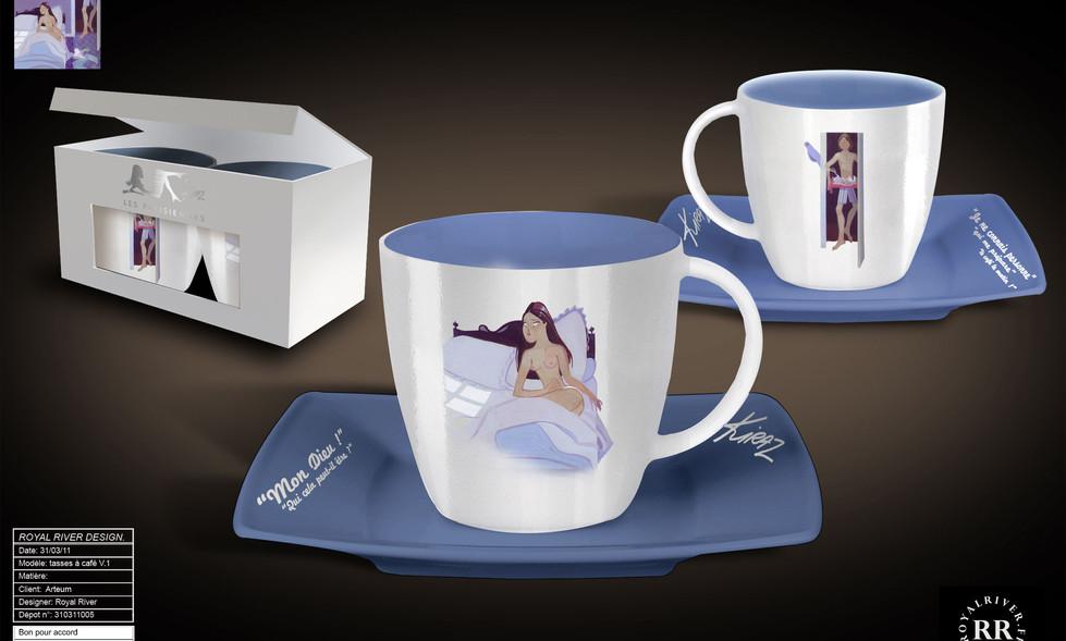 tasse mug sous tasse Kiraz Royal River d