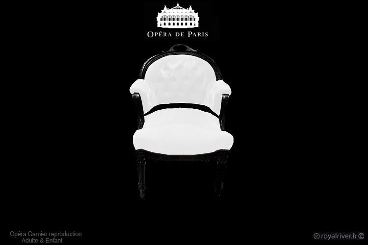 fauteil opéra  de paris blanc Royal Rive