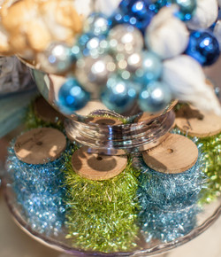Tinsel and ornaments
