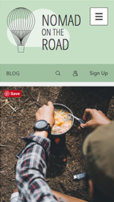 Lifestyle website templates – Travel Blog