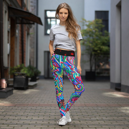 """Multi-Colour"" Doodle Yoga Leggings"