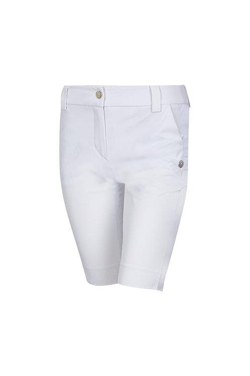 Bermudahose mit seitlichen Taschen weiß