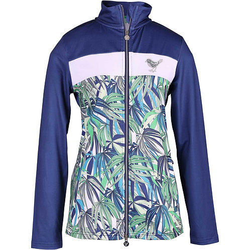 girls golf Jacke 'EXOTIC DJUNGLE' (navy)