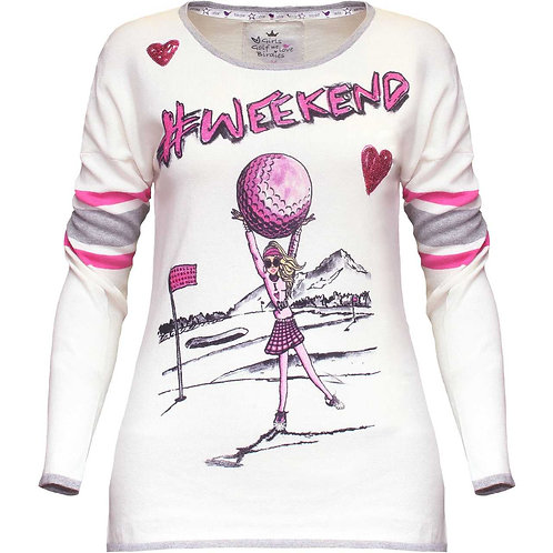 girls golf Pullover '#WEEKEND'