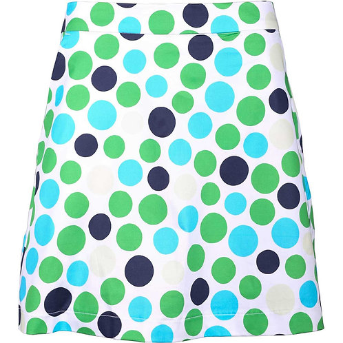 girls golf Skort 'POLKA DOT BLUE' (polka blau)
