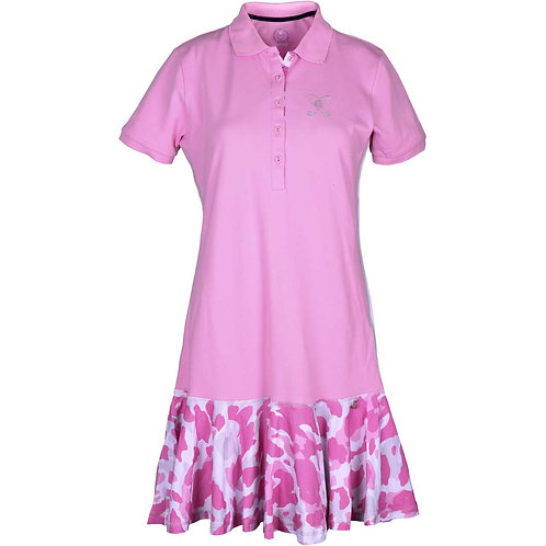 girls golf Polo-Kleid 'LADIES CAMO ROSE' (rosa)