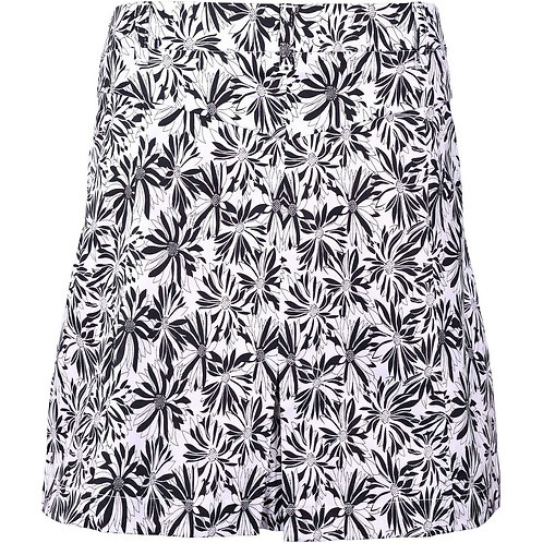 girls golf Skort 'BLACK FLOWER' (weiß/schwarz)