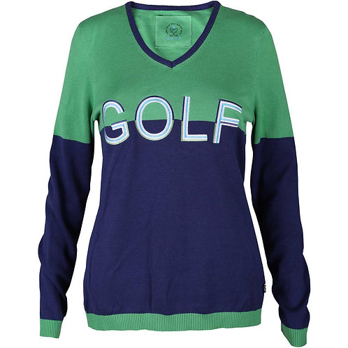girls golf Pullover 'GIANT GOLF' | navy, lila