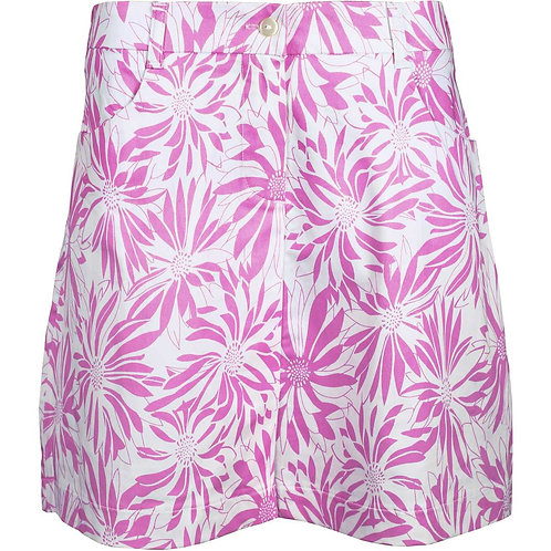 girls golf Skort 'ROSE FLOWER' (rosa/weiß)