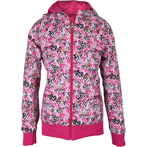 girls golf Jacke 'HEARTS LOVE PINK' (pink)