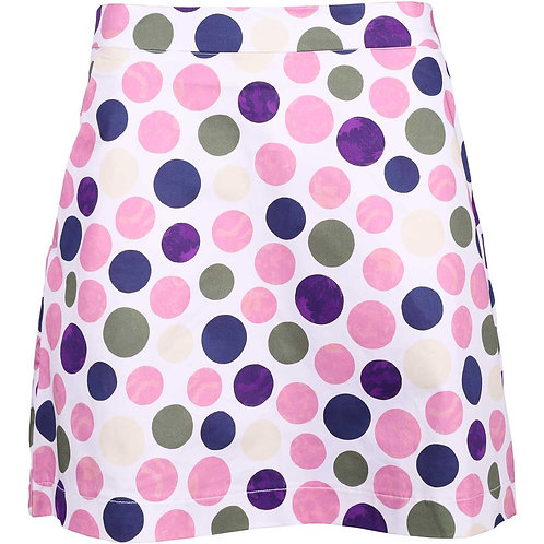girls golf Skort 'PURPLE POLKA DOT' (polka lila)