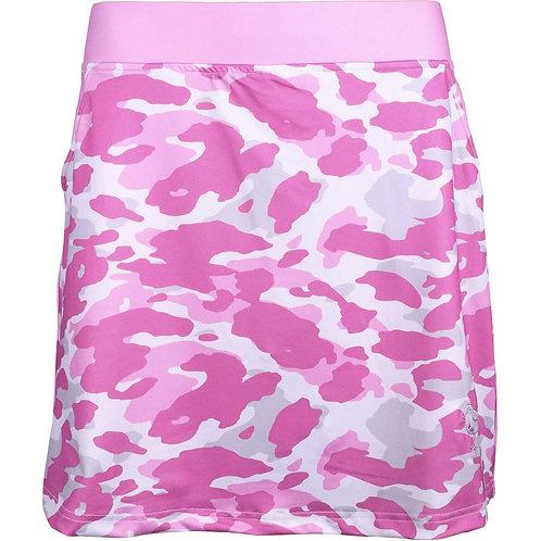 girls golf Skort 'LADIES CAMO ROSE' (rosa/weiß)
