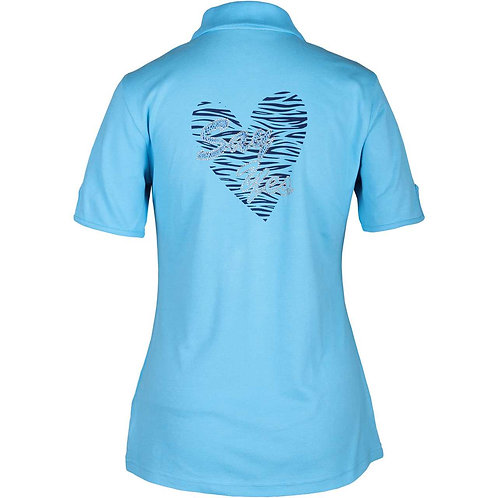 girls golf Polo 'SAY YES IN A HEART' (türkis)