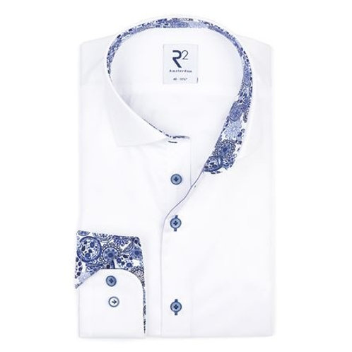 White plain cotton shirt SL7