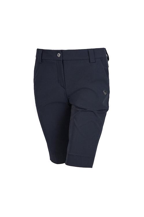 Bermudahose mit seitlichen Taschen blau