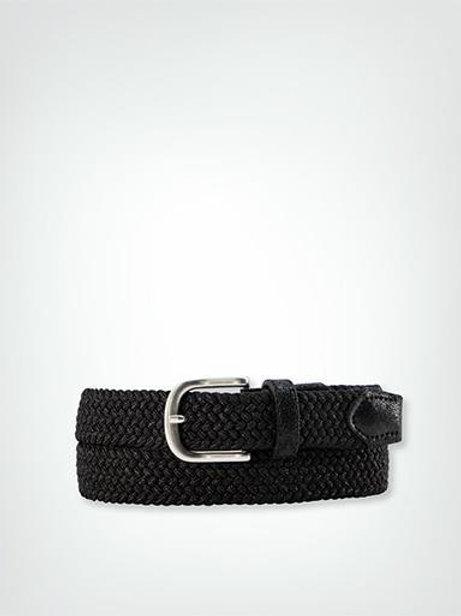 Textilgürtel geflochten - schwarz metallic