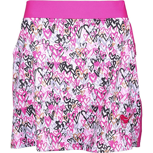 girls golf Skort 'LOVE IS IN THE AIR' (pink/schwarz)