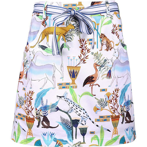 girls golf Skort 'FAIRY TALE FOREST' (weiß/beige Print)