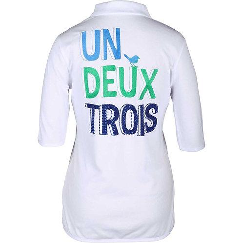 girls golf Polo 'UN DEUX TROIS' (weiß)