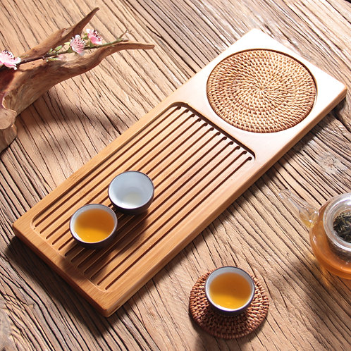 Large Bamboo Tea Tray