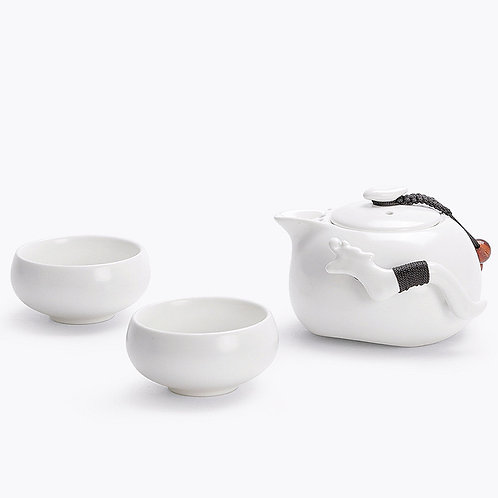 Ding-Yao 2 Cup Traveler Set - White