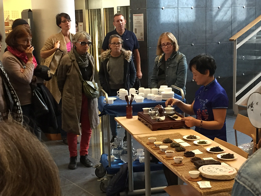 Valley Brook Tea | Blog | Our tea presentation/performance by Ms. Yun Xiaoli in La Rochelle, France