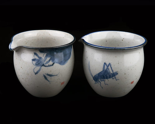 Ellipse Crude Pottery Sharing Pot (Cha Hai/Gong Dao Bei)