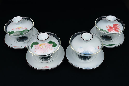 Glass and Porcelain Gaiwan