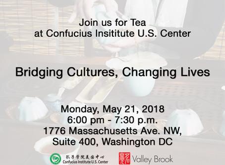 Join Us For Tea at Confucius Institute US Center Event.