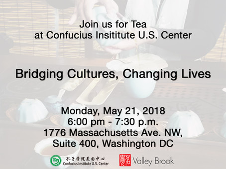 Join Us For Tea at Confucius Institute US Center Event.