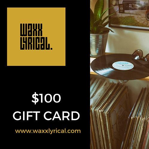 $100 Gift E-Card