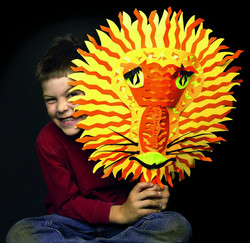 Lion African Mask