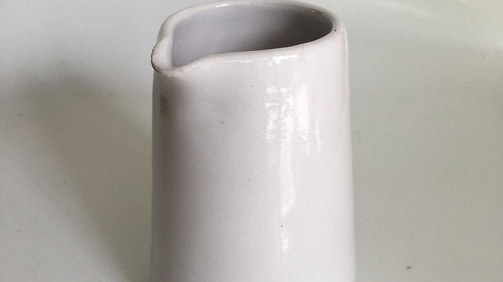 White stoneware jug