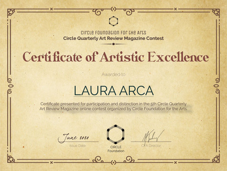 CQAR5-ArtisticExcellenceCertificate-Laur