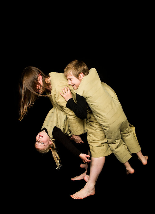 attached (smother series) - play time with kids and velcro suit outfits, about child attachment
