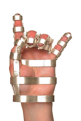 gesture (from constrain series) - a hand gibbet created in response to increased government restriction on artisti freedom.  It represents small acts of subversion through enforced restriction