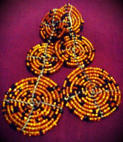 Orange Beaded Circular Earrings 4.jpg