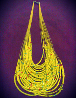 Yellow Multi-layer Beaded Maasai Necklace.jpg