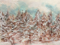 snowy pines  SOLD