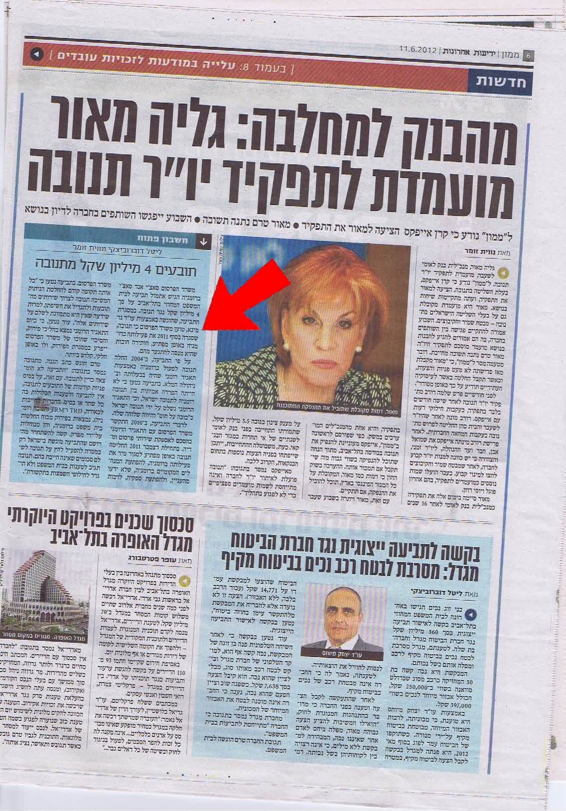 ידיעות ממון 11.6.2012