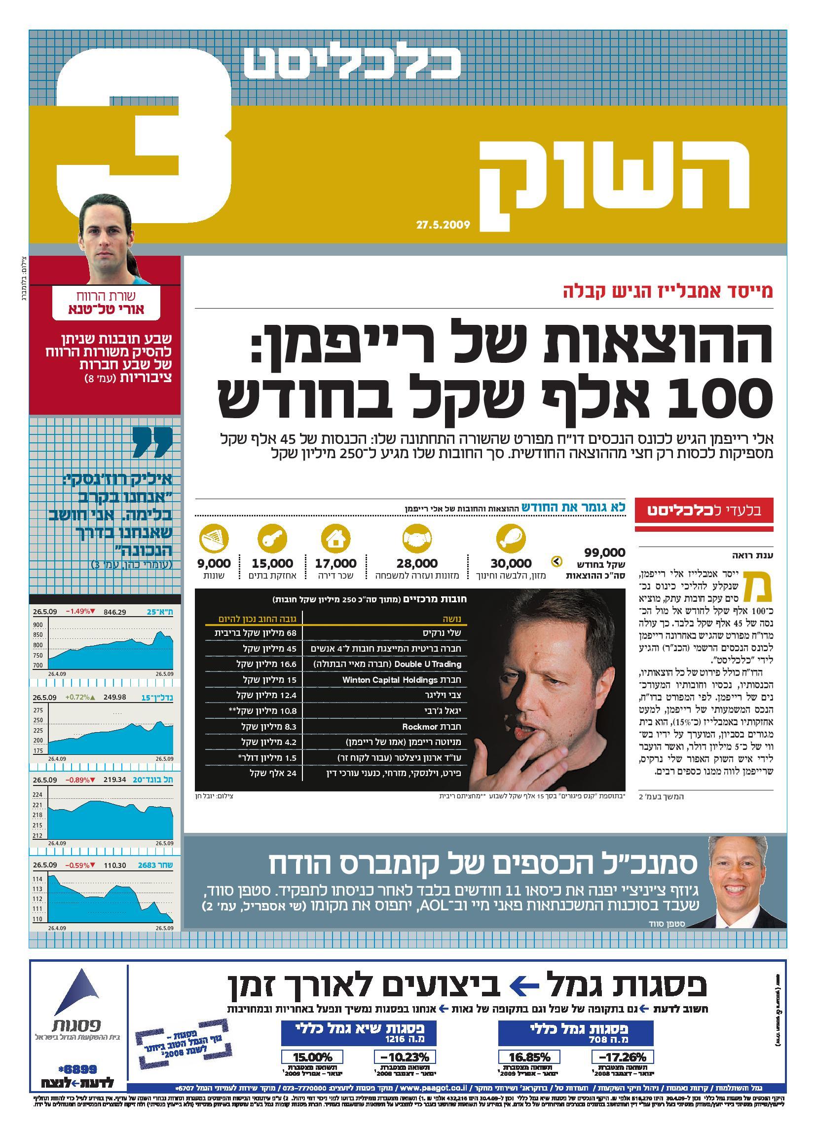 כלכליסט 27.5.2009
