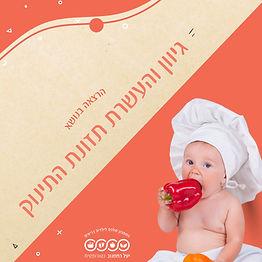 תמונת נושא הרצאה גיוון והעשרת תזונת תינוקות