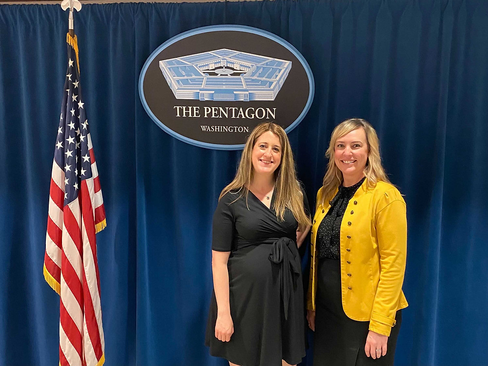 Productable Founder & CEO Rachel Kuhr Conn and Productable Head of Methodology, Dr. Christina White, at Pentagon for a meeting with our Air Force partners.