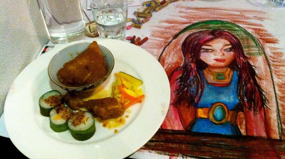 Productable Founder & CEO Rachel Kuhr Conn's secret talent as a tablecloth artist.