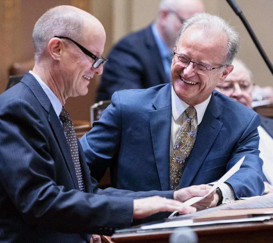 As an Assistant Majority Leader, Warren Limmer often advises Senate Majority Leader Paul Gazelka.