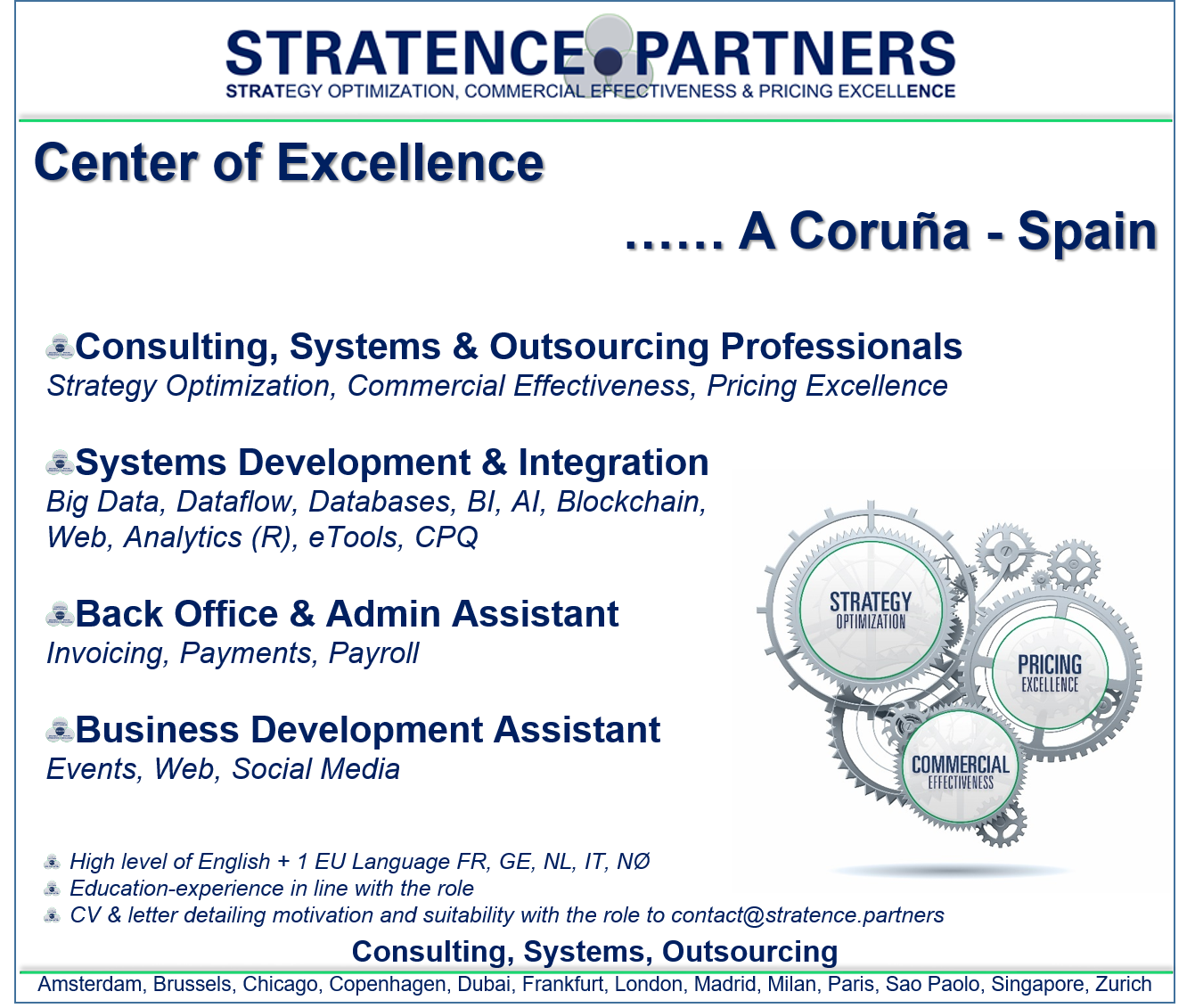 EXPANDING OUR CENTER OF EXCELLENCE | Stratence Partners | Home