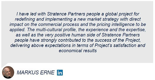 Markus Erne Stratence Partners Reference