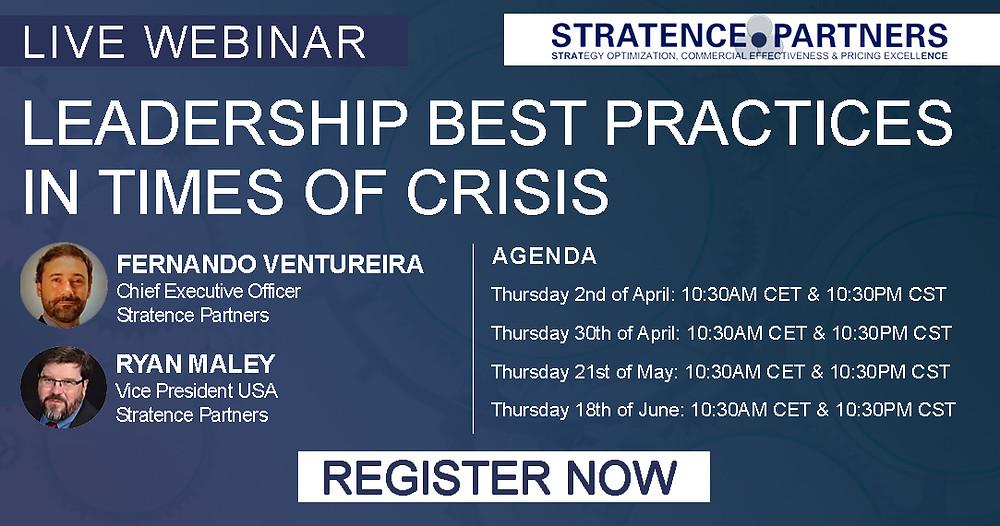 Live Webinar: Leadership Best Practices in Times of Crisis