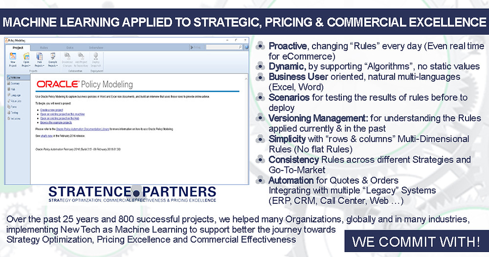 Machine Learning applied to Strategic, Pricing & Commercial Excellence